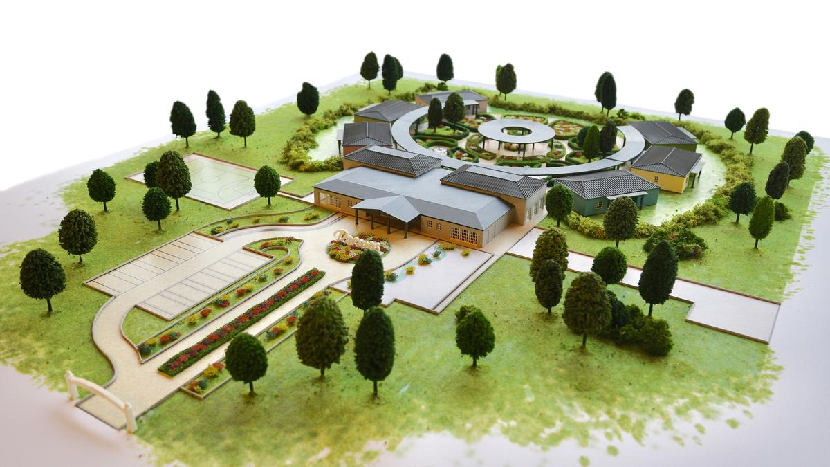 An artist's impression of the new village