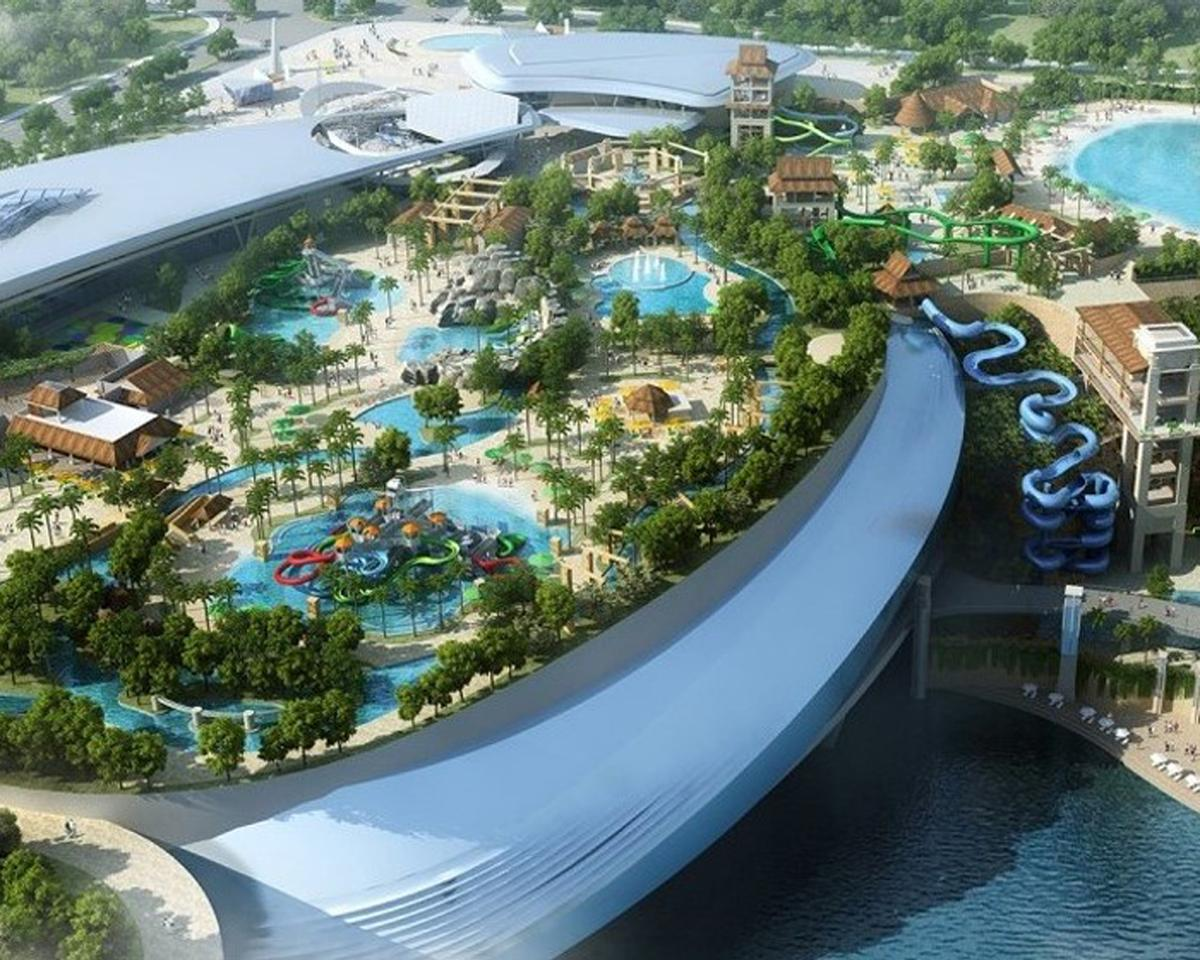 Forrec created Changsha Dawang Deep Pit Water World, a breathtaking multi-level water park