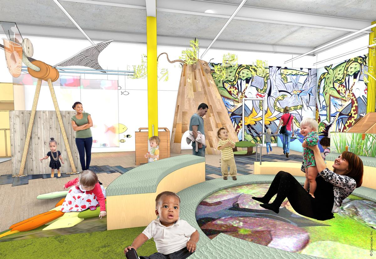 The Play With Me gallery is designed for infants under the age of four / Mithūn