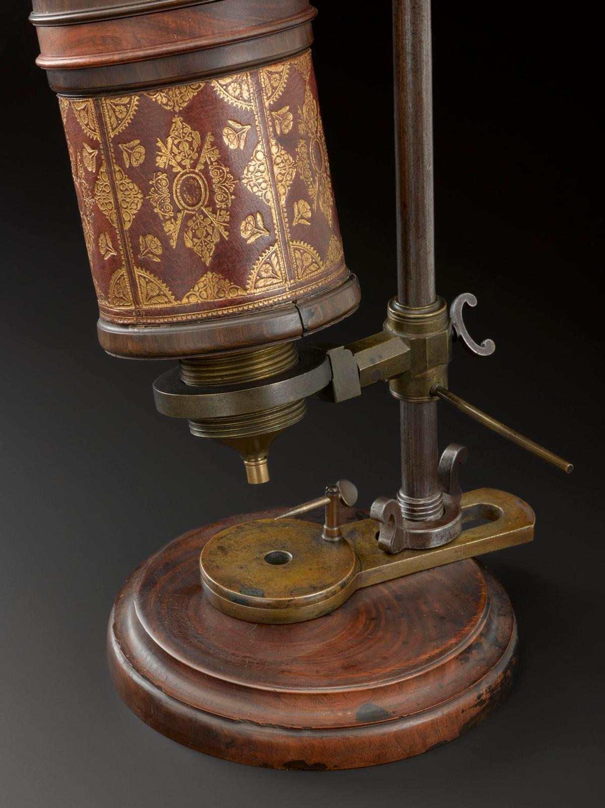 Hooke's microscope, which allowed him to present insects and plants in such fine detail / Science Museum Group