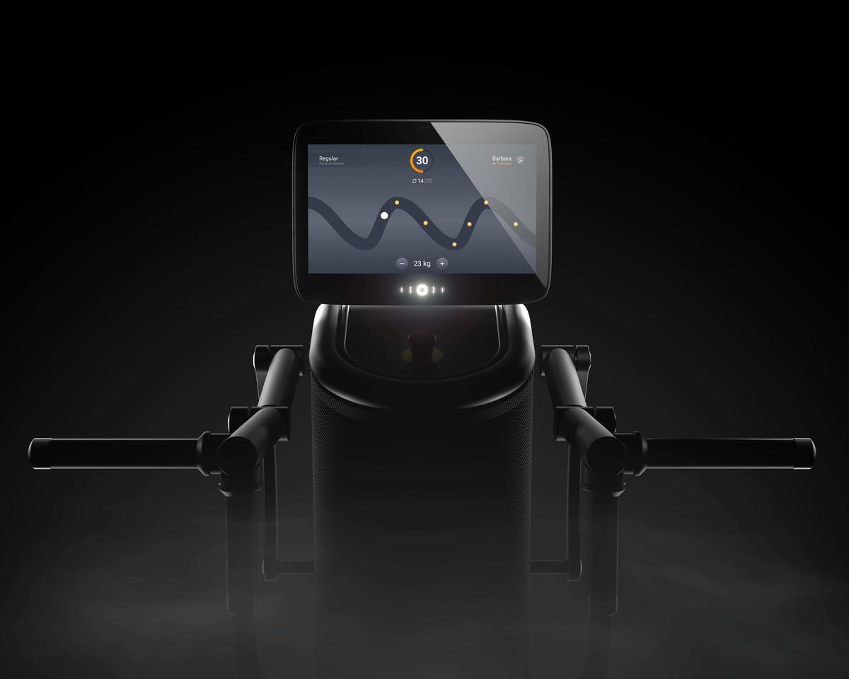 Vision a 15.6' HD console screen that offers a high-resolution training interface is present on all of eGym's smart electric strength equipment