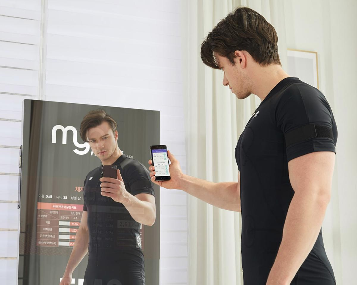 The Myo Mirror utilises modulated mid-frequency currents to enhance, shape and tone the body