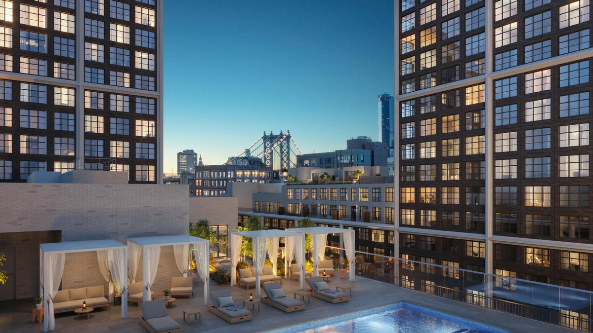 The expansive project is taking shape in Brooklyn's historic DUMBO neighbourhood / Williams New York