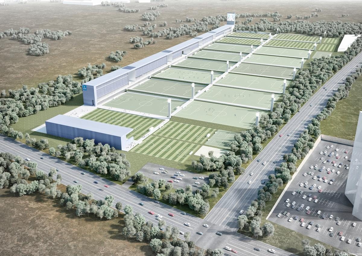 The Sports City of Dalian Yifang FC will comprise 23 pitches / Cruz y Ortiz Arquitectos