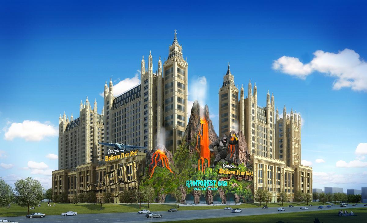 ITEC Entertainment's theme park at Harbin, China, is under construction