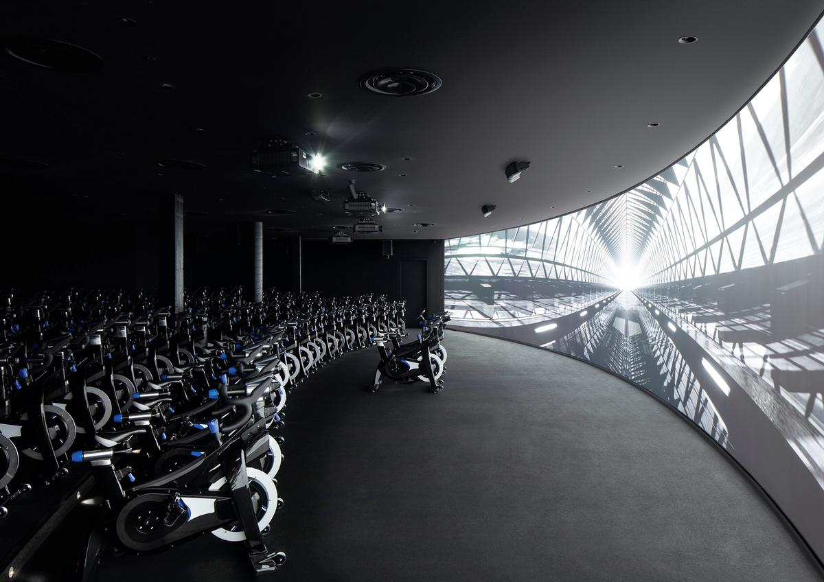 The additions include a studio with 100 indoor bikes, set out in a terraced theatre environment