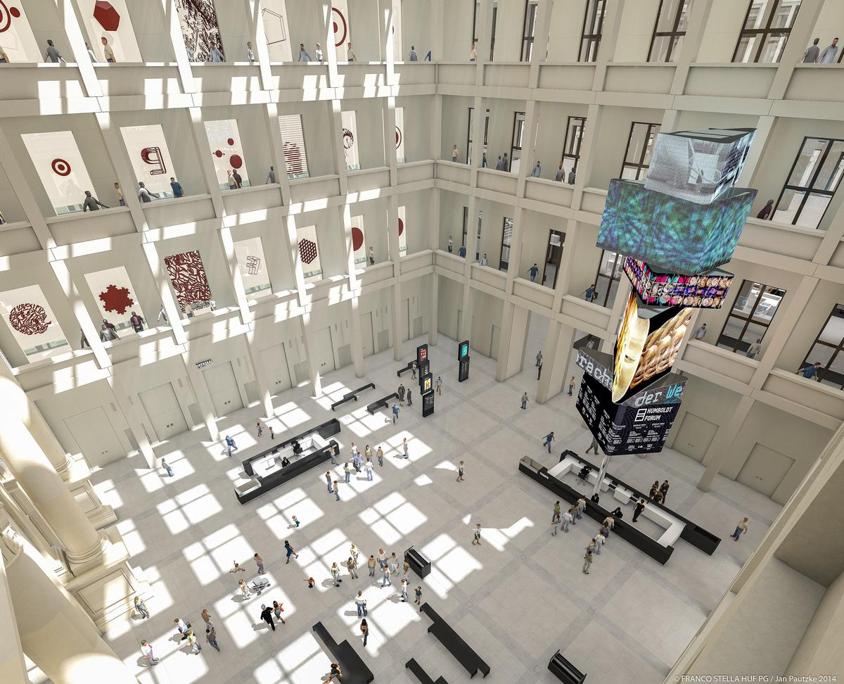 A rendering of the foyer at the museum / SHF / Architect: Franco Stella with FS HUF PG