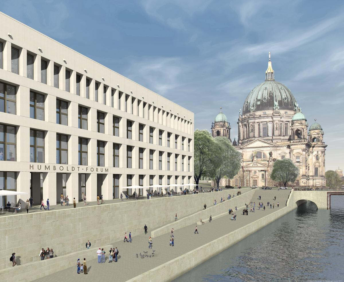 Architect's rendering of the east facade at the Humboldt Forum / SHF / Architect: Franco Stella with FS HUF PG