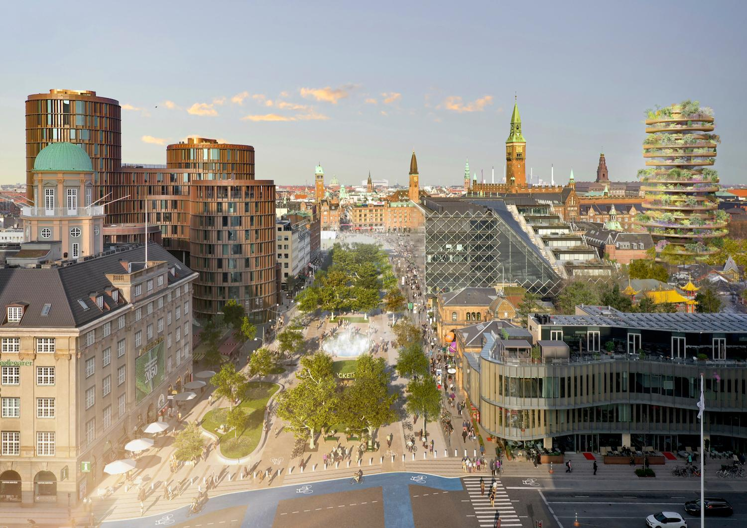 Gehl – a Danish urban planning firm – will be in charge of redesigning Tivoli Gardens' adjoining Vesterbrogade area / Bjarke Ingels Group