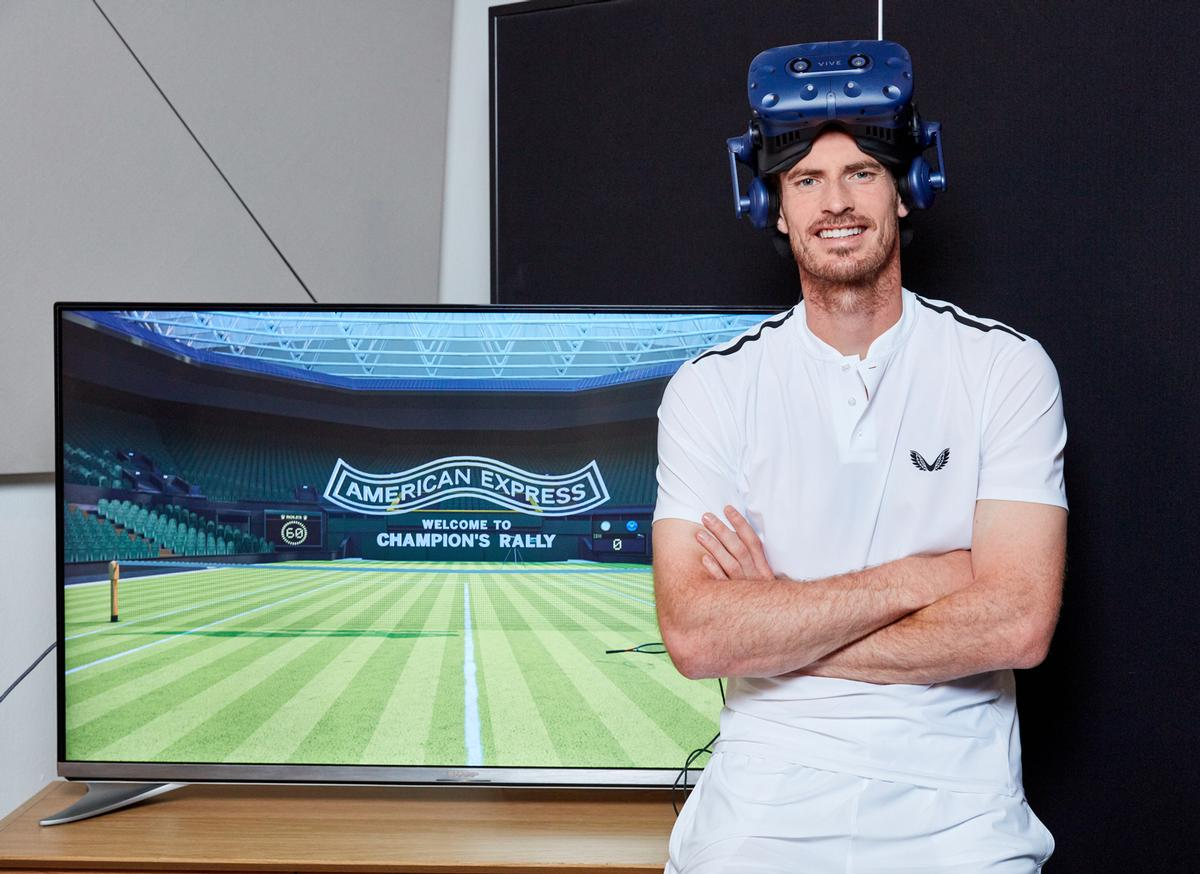 The experience will allow fans to measure their speed and accuracy, encouraged by Andy Murray
