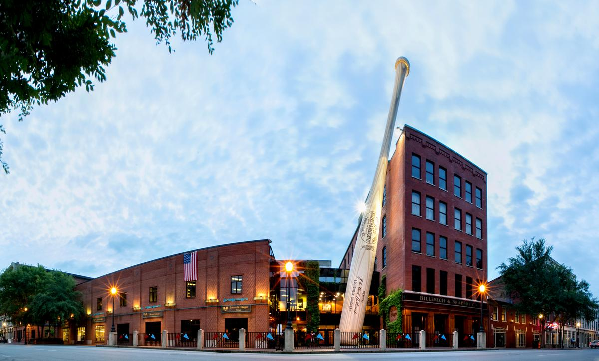 300,000 people per year visit the Louisville Slugger Museum & Factory