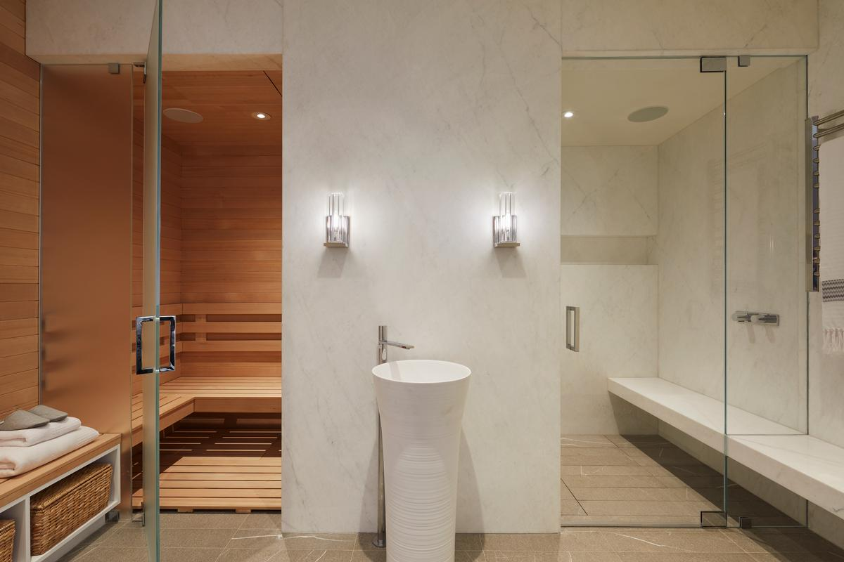 The house also boasts a sauna and spa / Mikiko Kikuyama