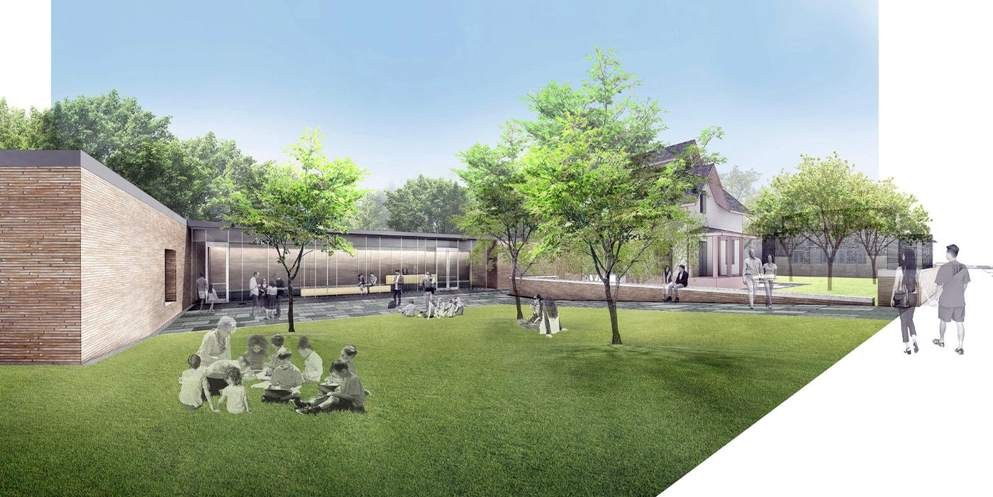 An entry plaza will also be added to the museum campus / John Ronan Architects