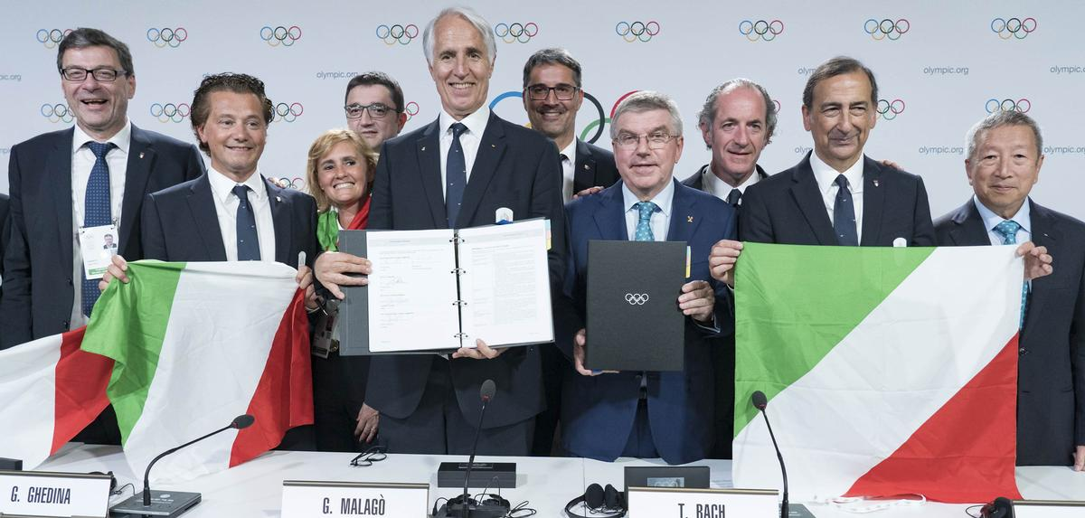 Milan-Cortina received 47 out of a total of 82 votes cast by IOC members / IOC