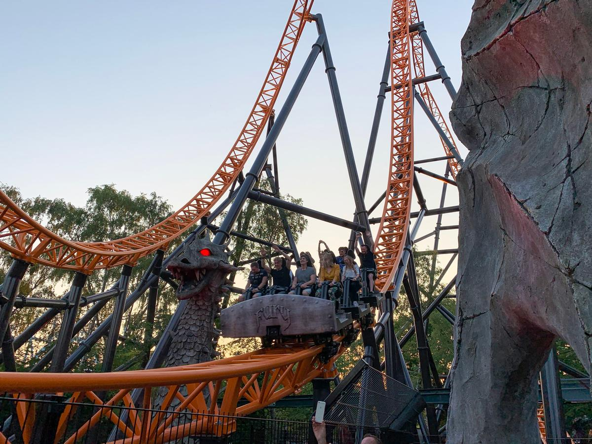 Fury is a new 40-metre high triple launch rollercoaster