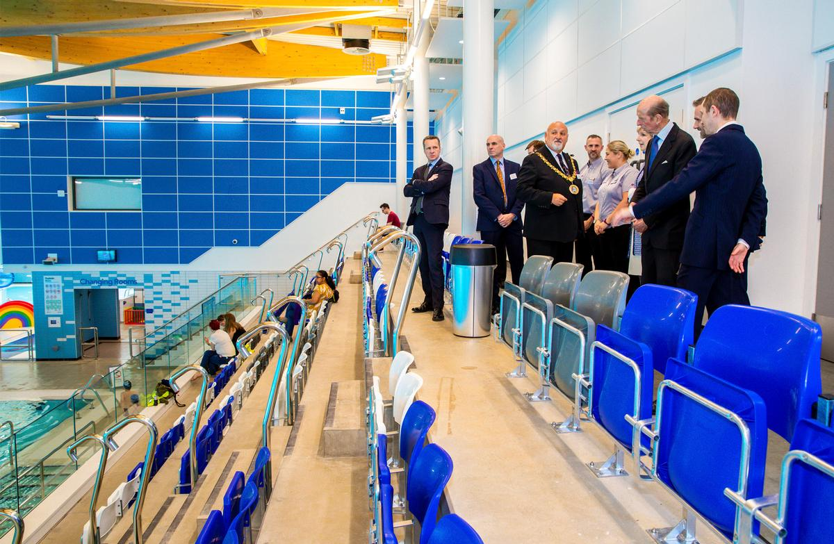 The centre was officially opened by His Royal Highness The Duke of Kent (third from right)