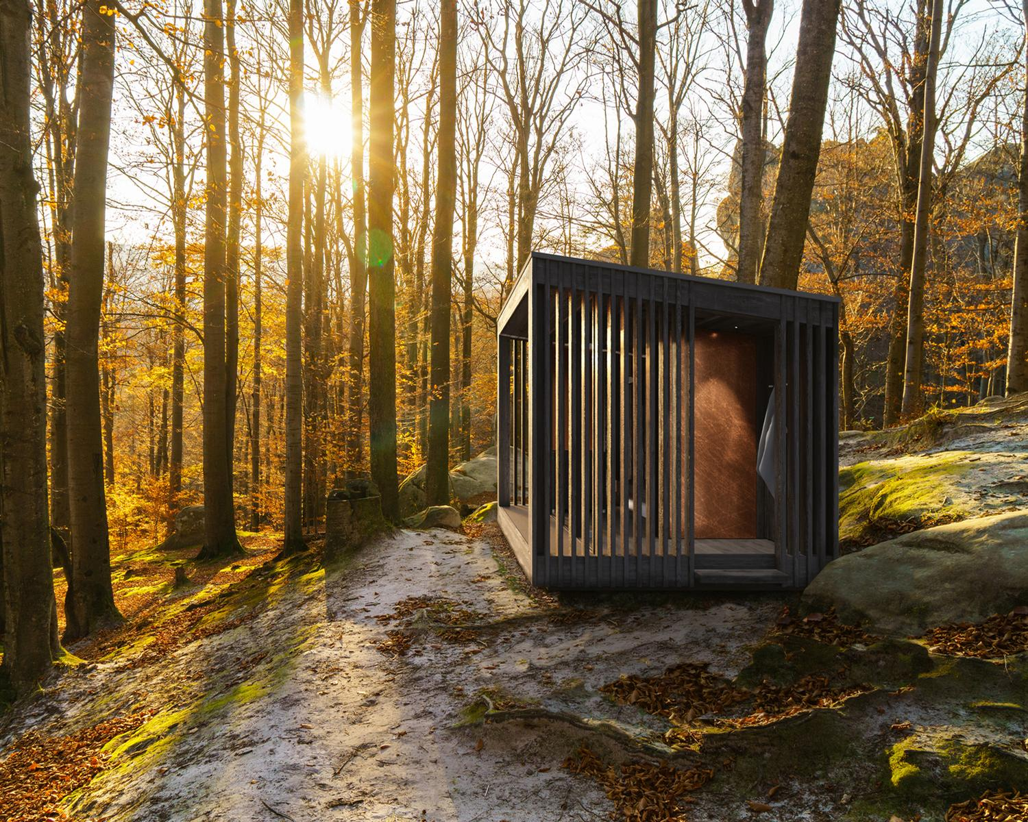 The NatureSauna is described as a tribute to 'open air wellness'
