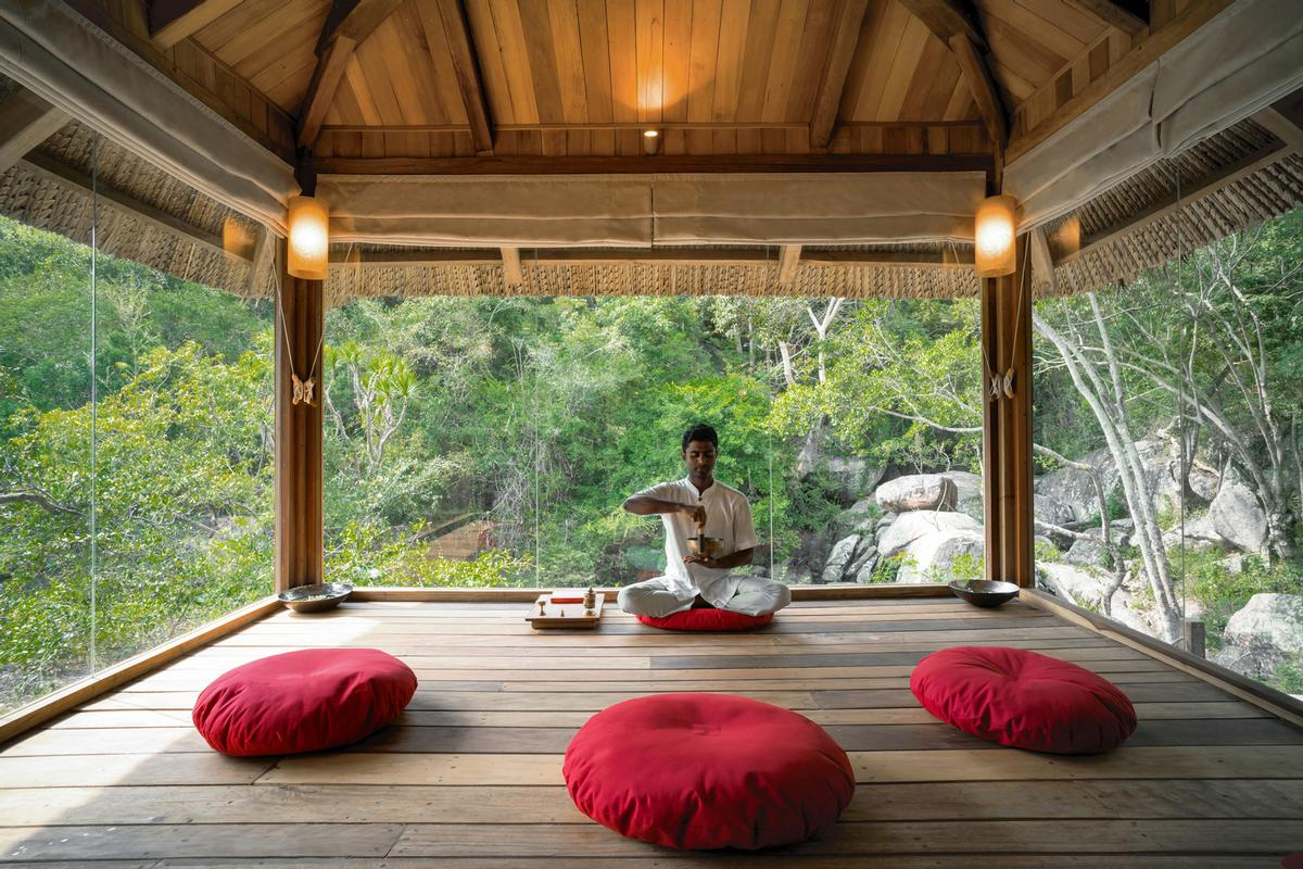 The Meditation Sala is designed to give guests a sanctuary to clear their heads