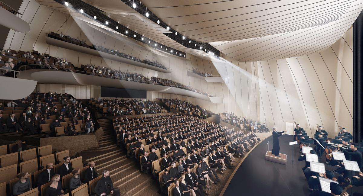 The grand theatre will seat 1,600 people / Ma Yansong