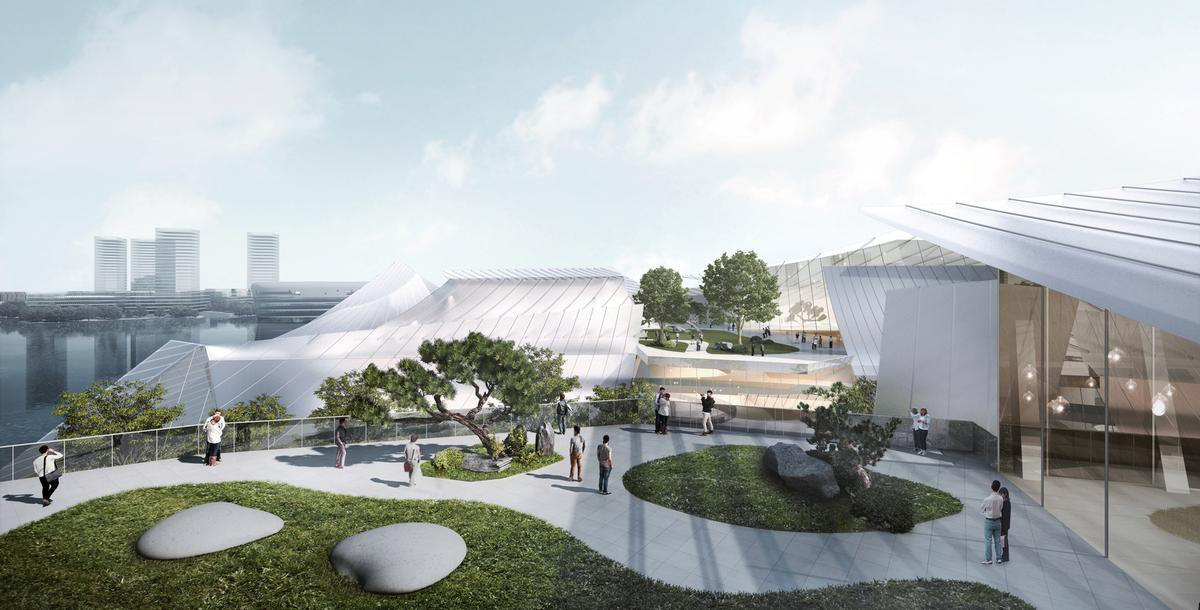 Outdoor green spaces will create a meditative sanctuary in the urban setting / Ma Yansong