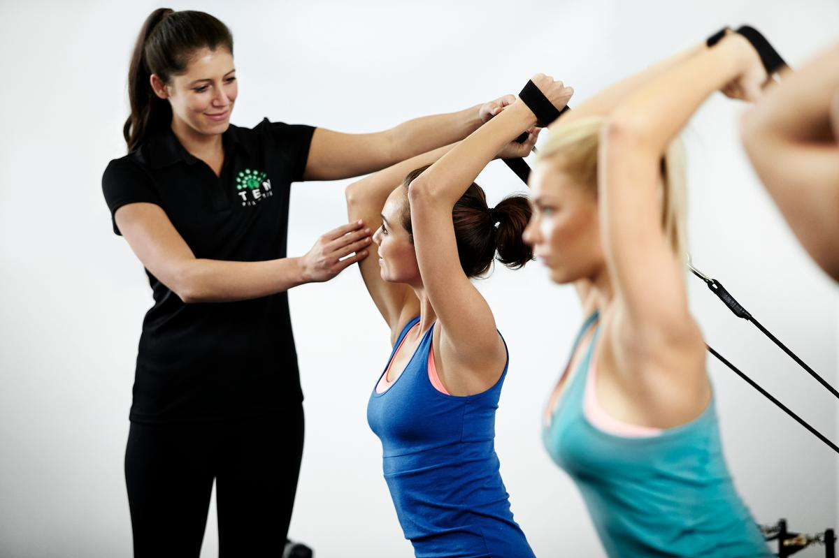 Ten runs a programme of Dynamic Reformer Pilates