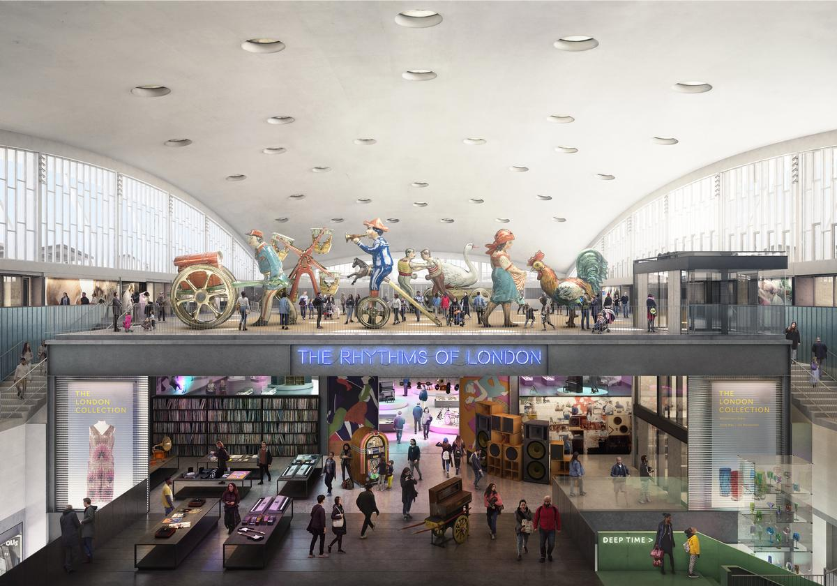 The plans make use of space both above and below ground, offering more room to display exhibits