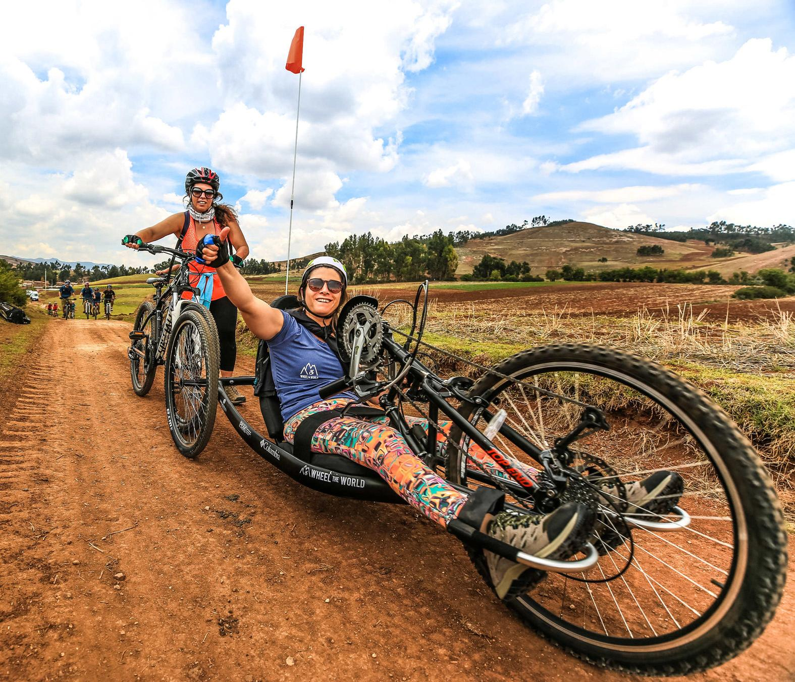 The range of equipment available includes wheelchairs, handcycles and trikes