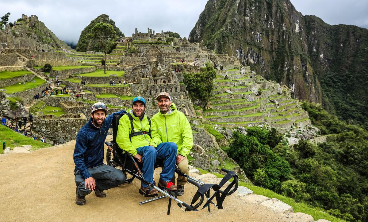 Alvaro Silberstein (centre) founded Wheel the World to inspire accessible travel for those with disabilities