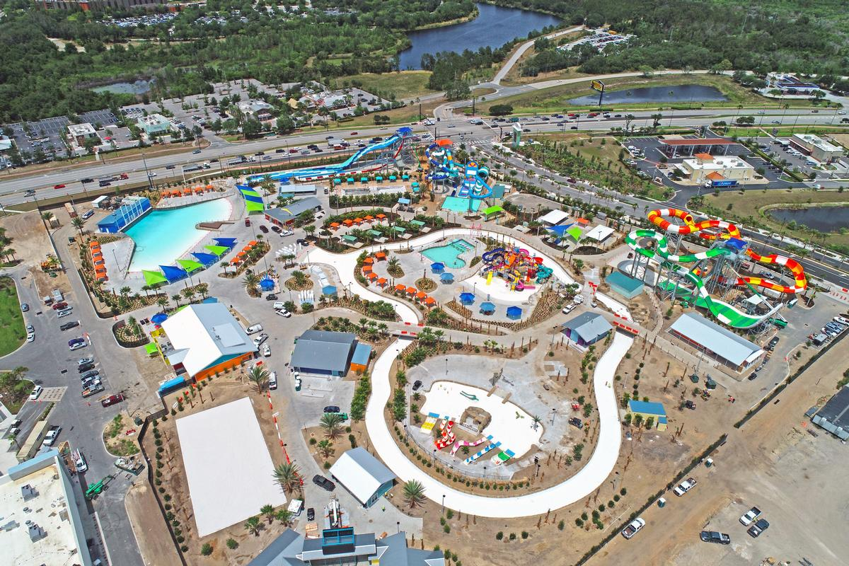 There are more than 15 attractions, including water slides, wave pools and a lazy river