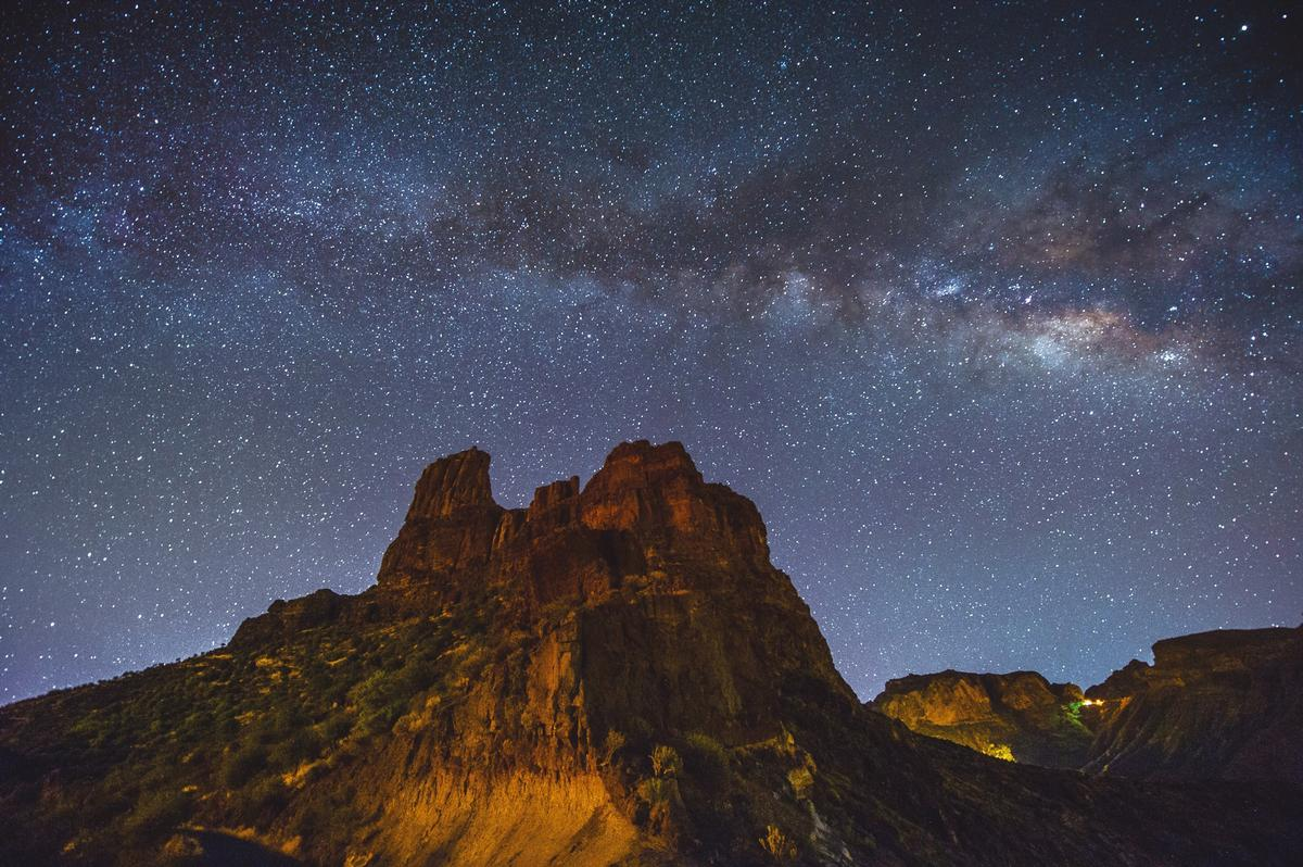 The Milky Way seen over the Risco Caido and the Sacred Mountains of Gran Canaria / Unesco / Nacho Gonzalez