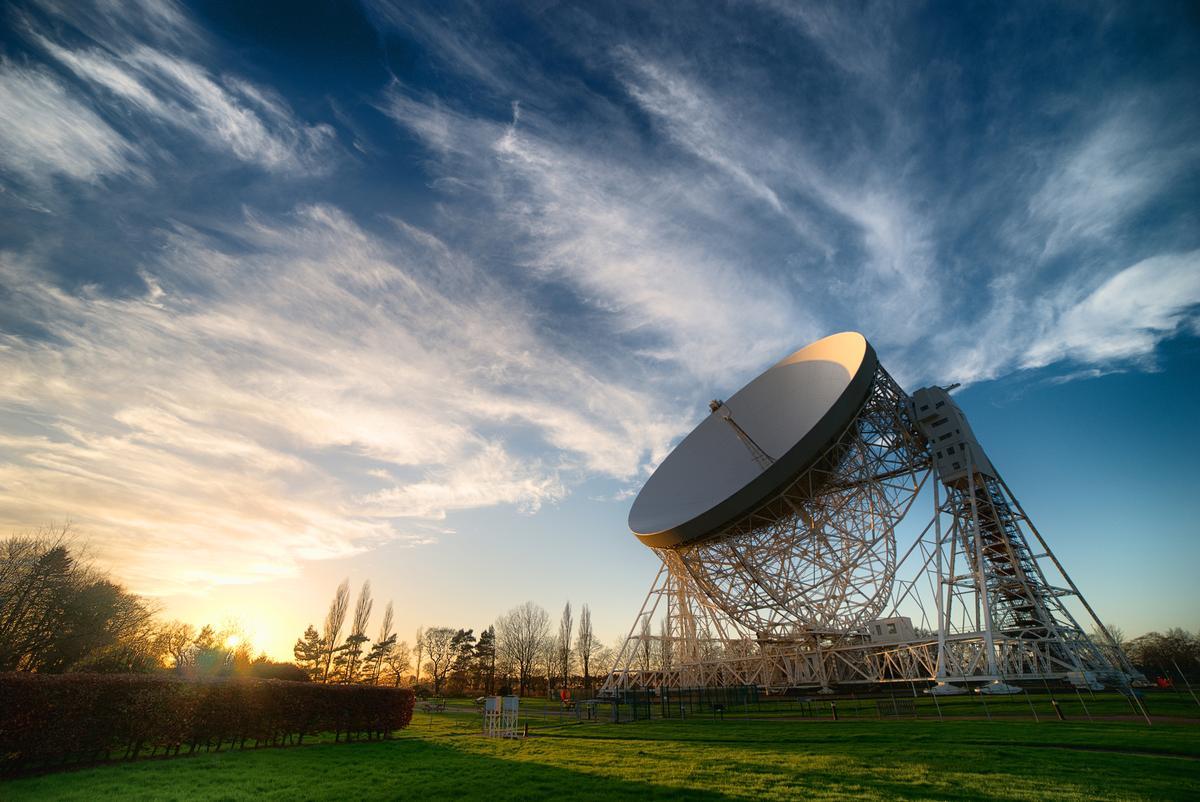 The Lovell Telescope at Jodrell Bank, UK / Unesco / Anthony Holloway