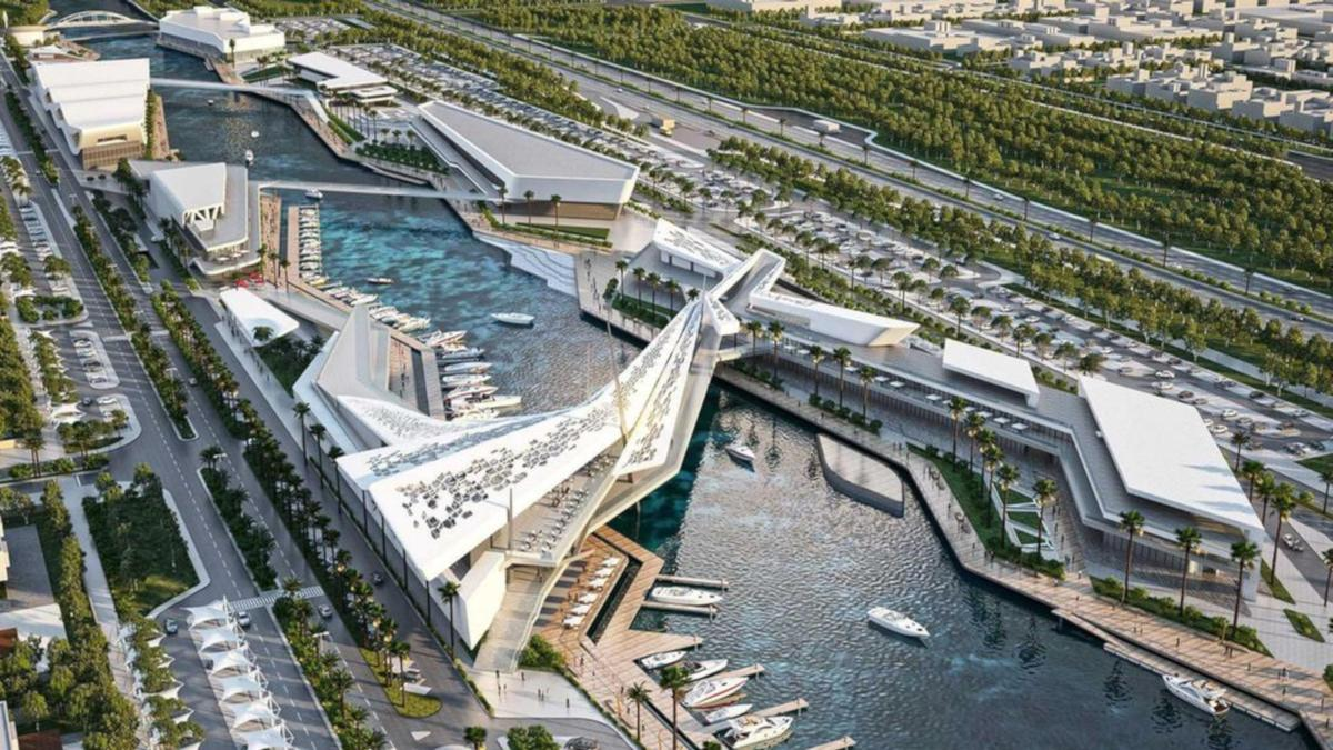 The Al Qana complex in Abu Dhabi has been designed by local firm MZ Architects / Al Qana