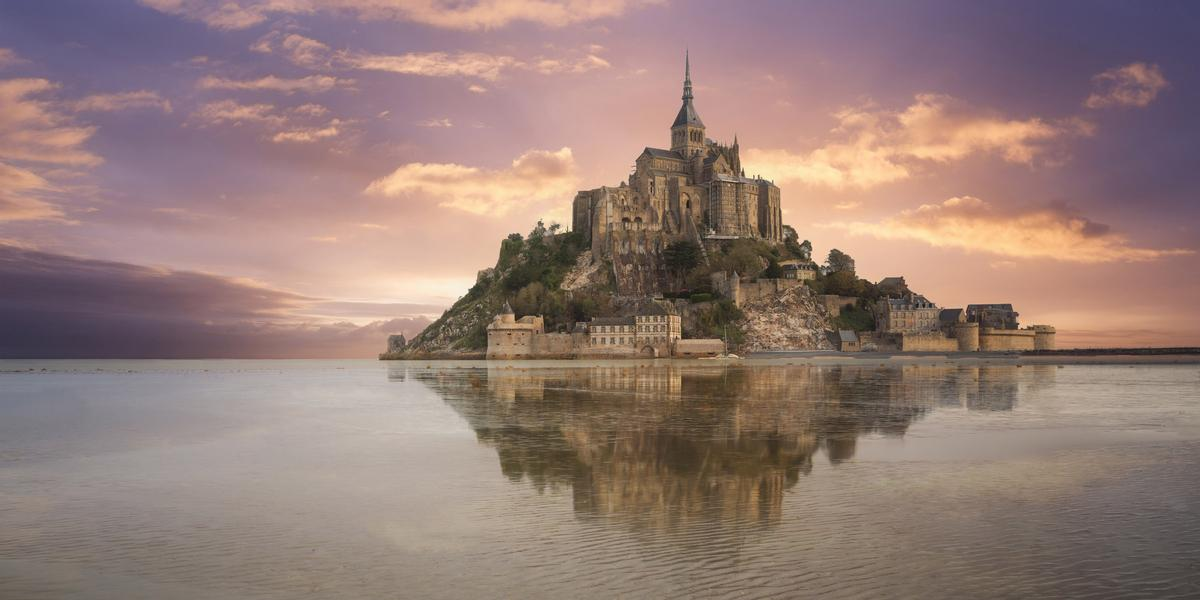 The iconic Mont Saint-Michel in Normandy was the focus of a partnership between Microsoft and HoloForge Interactive and Iconem in Paris, through which a mixed reality and AI museum experience was created / Microsoft
