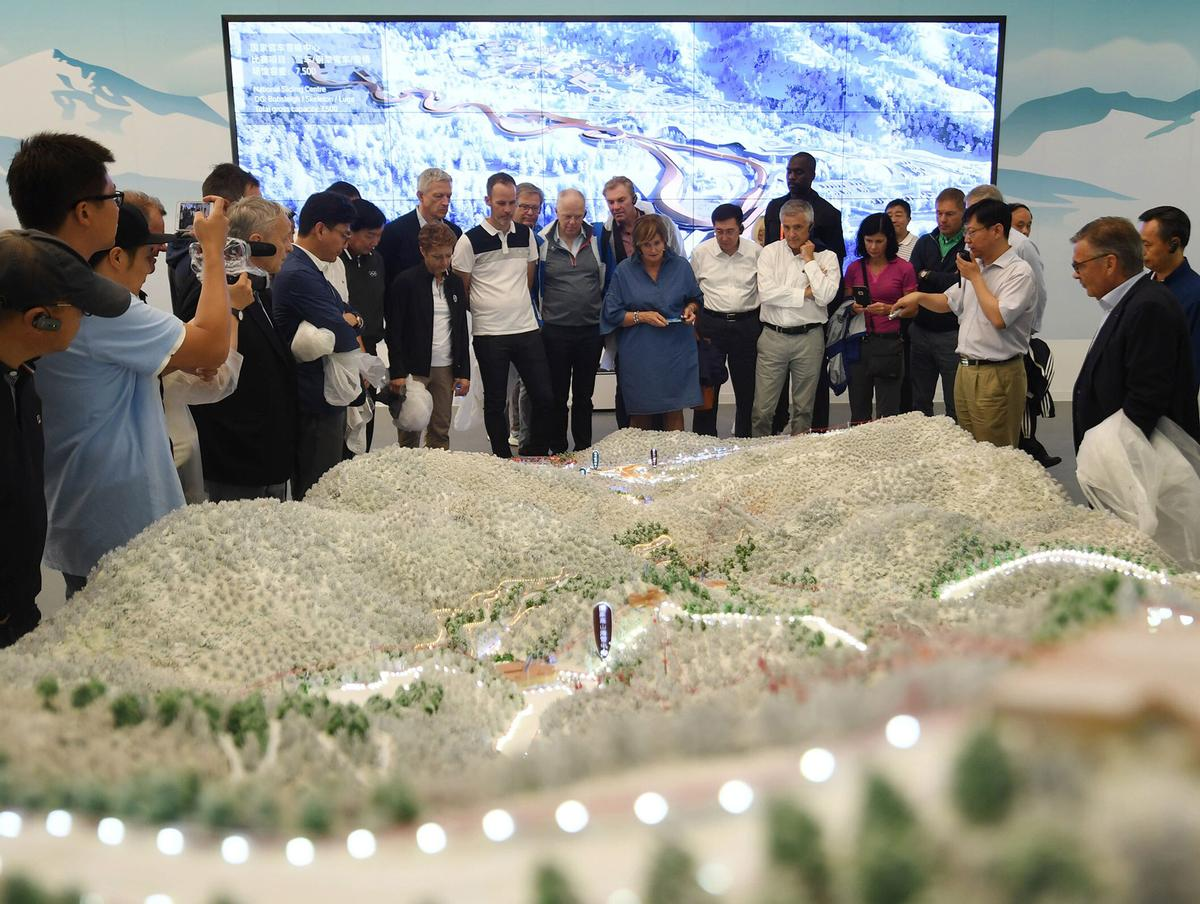 A number of new facilities are being developed ahead of the Beijing Games, which will take place from 4 to 20 February 2022