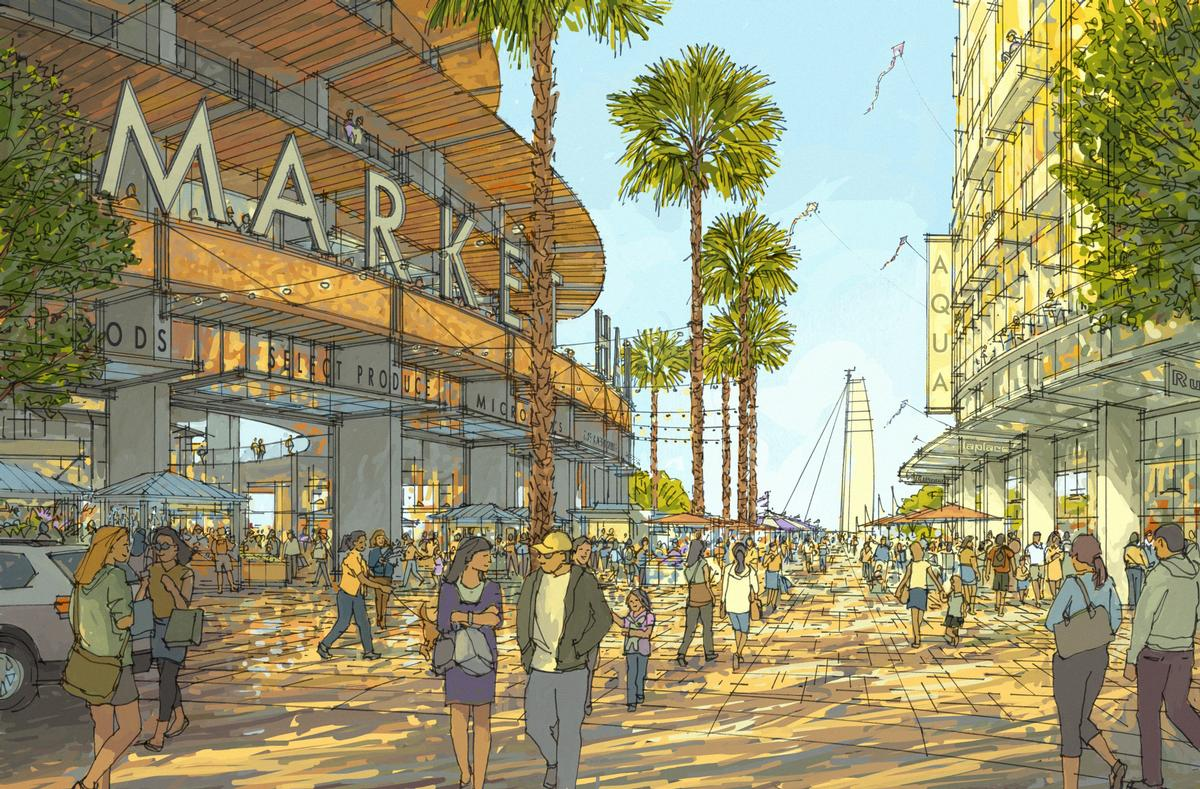 There will be a host of retail outlets on the site / Seaport San Diego