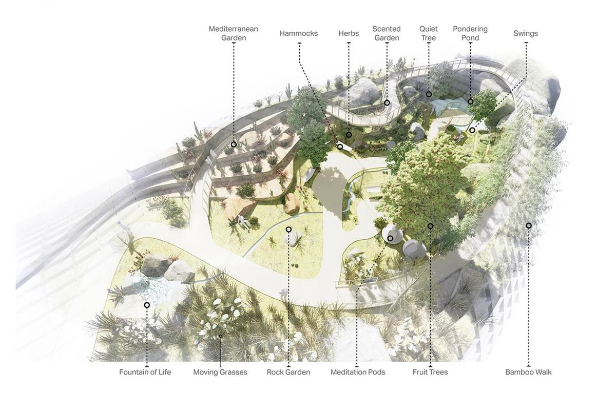 The biomes will house a range of wellness experiences / Wilkinson Eyre