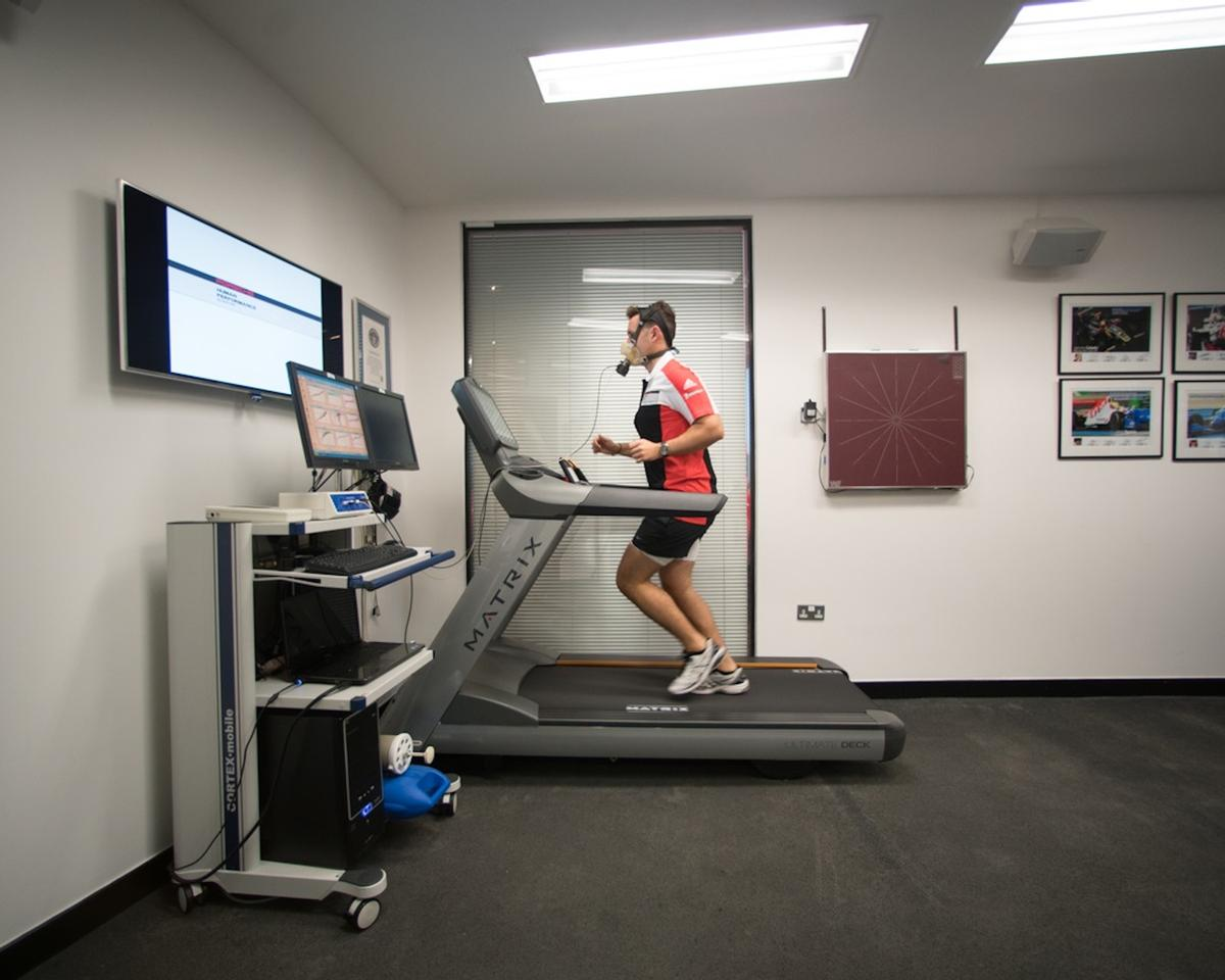 The Porsche Human Performance Centre is a sports science laboratory equipped with state-of-the-art training equipment from MAtrix