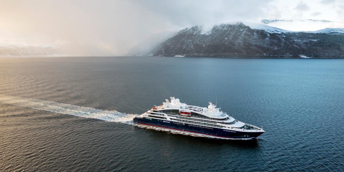 Ponant's ship Le Bougainville on cruise / Ponant - Philip Plisson