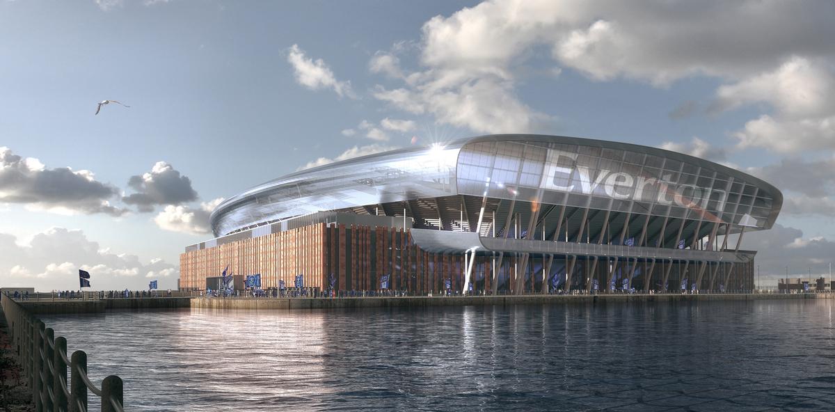 Everton FC reveals designs for new £500m Bramley Dock stadium