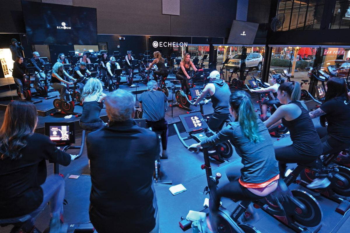 Echelon operates a 4,300sq ft indoor cycling studio at its HQ in Chattanooga, Tennessee