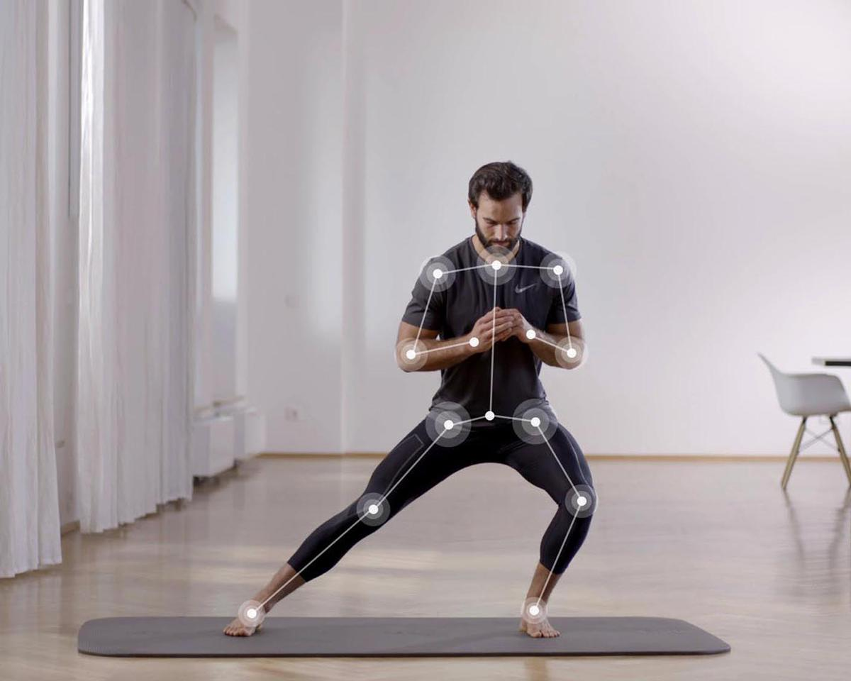 To use the Kaia Personal Trainer app, users simply stand several feet away from their smartphone camera and begin exercising with video instruction