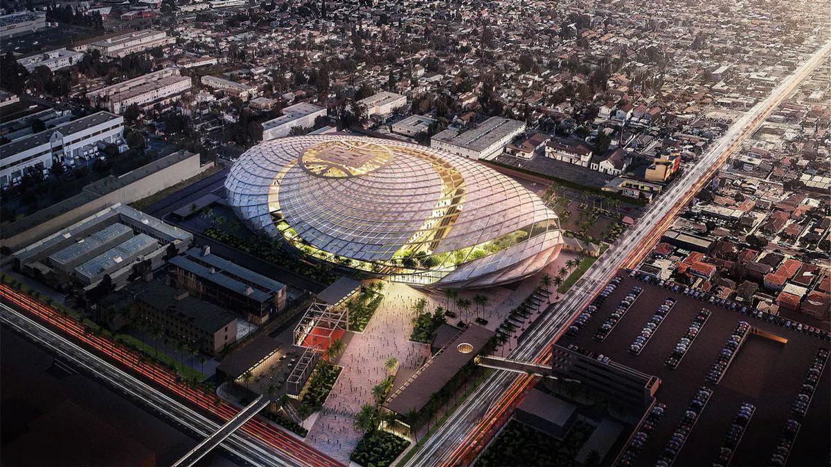 AECOM design US$1bn arena for the LA Clippers to resemble basketball net