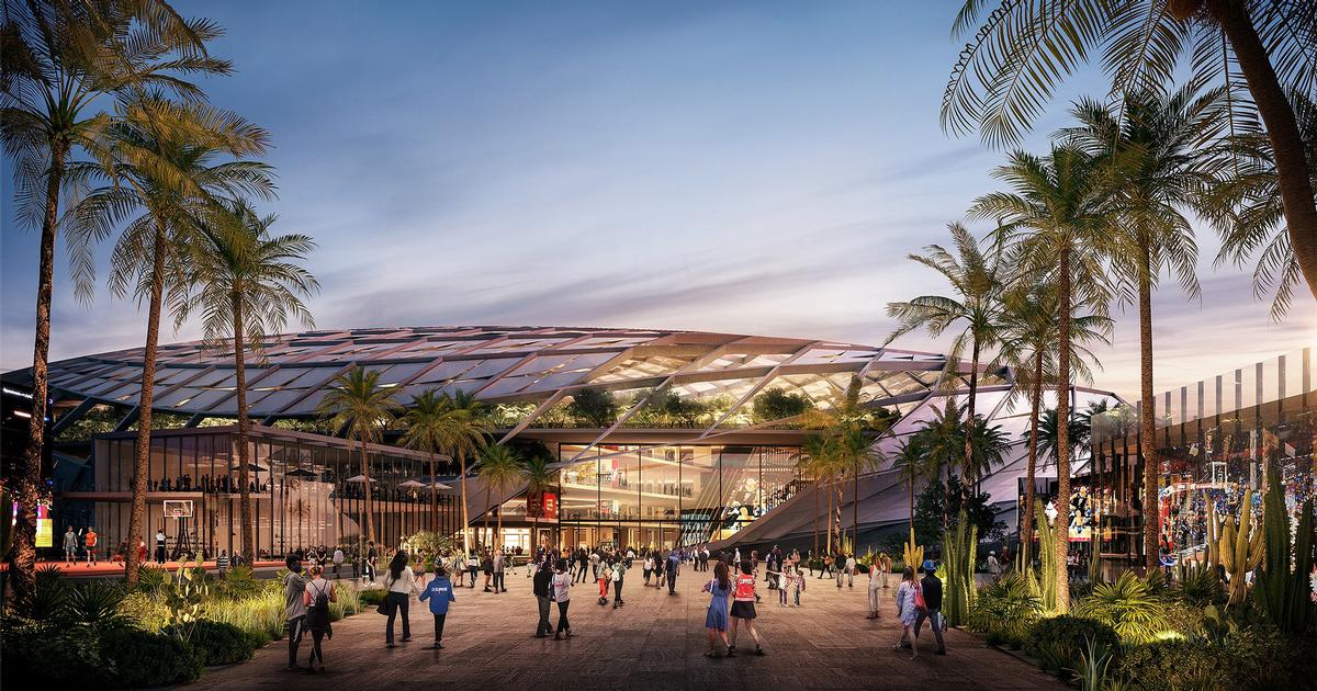 AECOM design US$1bn arena for the LA Clippers to resemble basketball