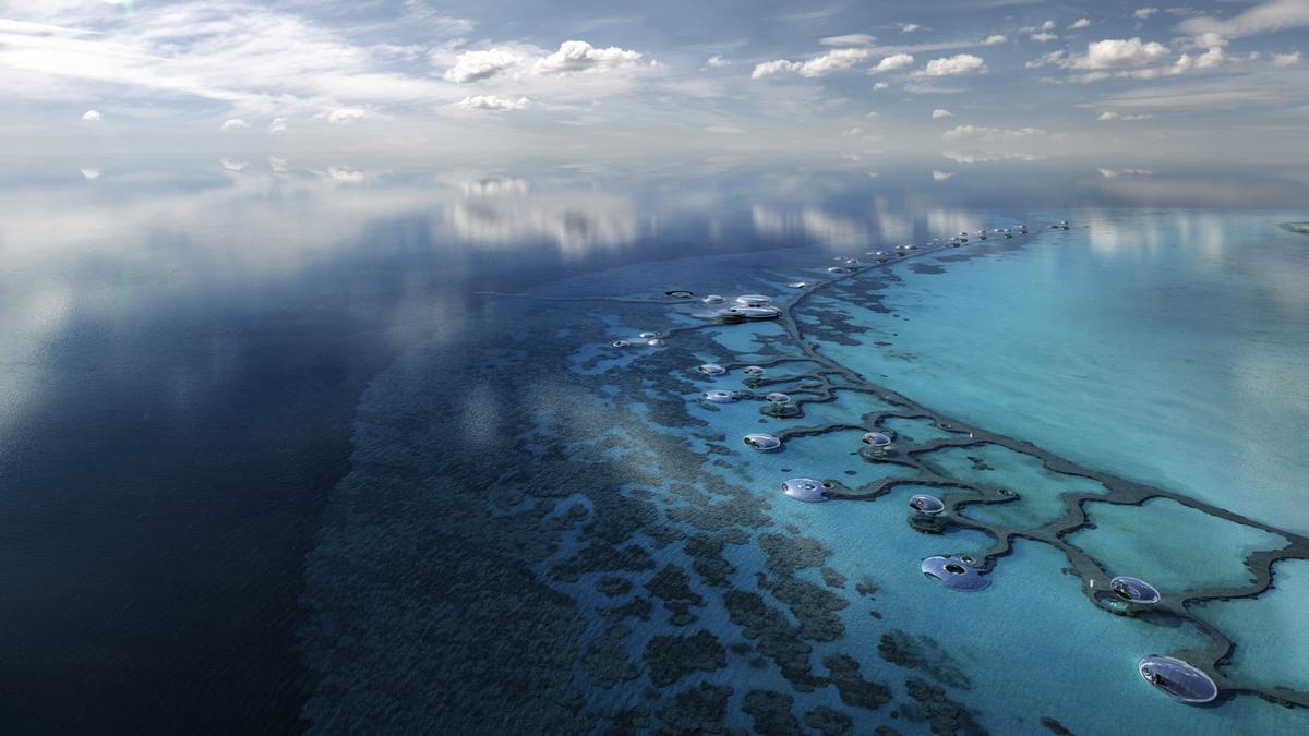 The Red Sea Project looks to turn a 90-plus-island archipelago off Saudi Arabia into a 28,000sq km tourism destination / Oppenheim Architecture