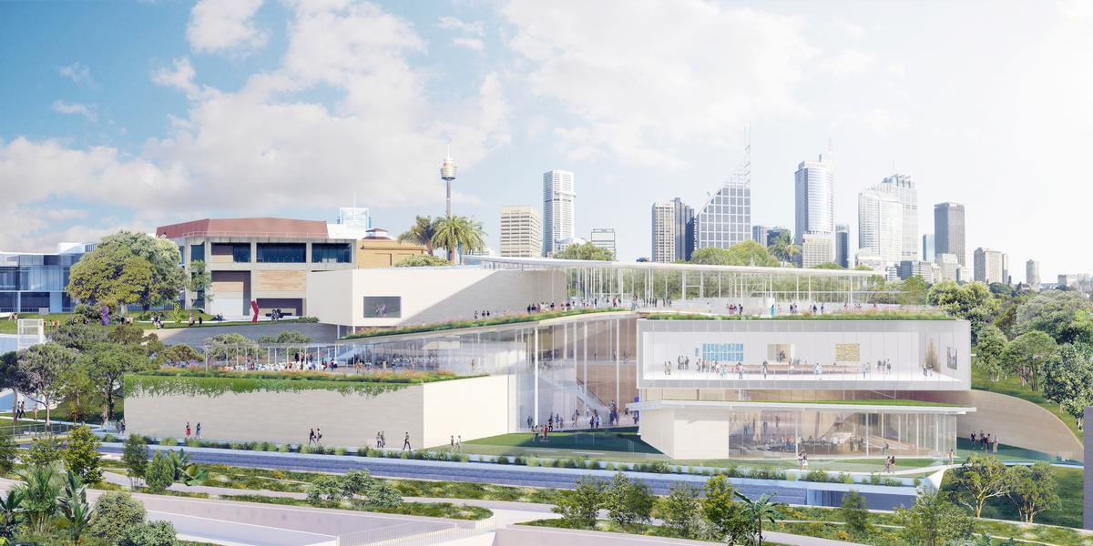 SANAA's design calls for a cascading glass construction / NSW Government
