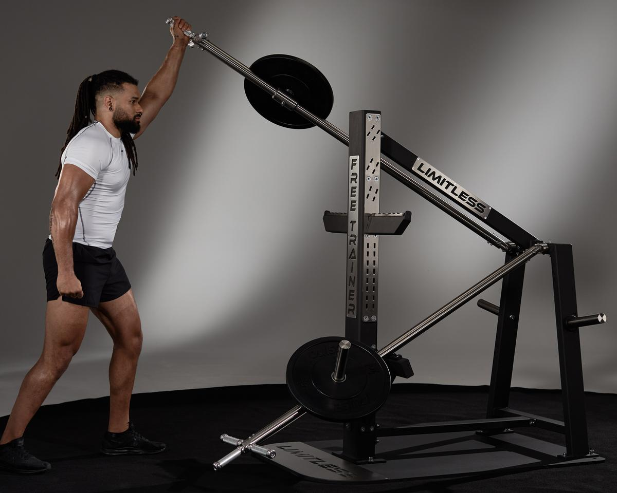 Limitless' Free Trainer Pro combines plate-loaded and functional resistance options to allow users to perform over 150 exercises