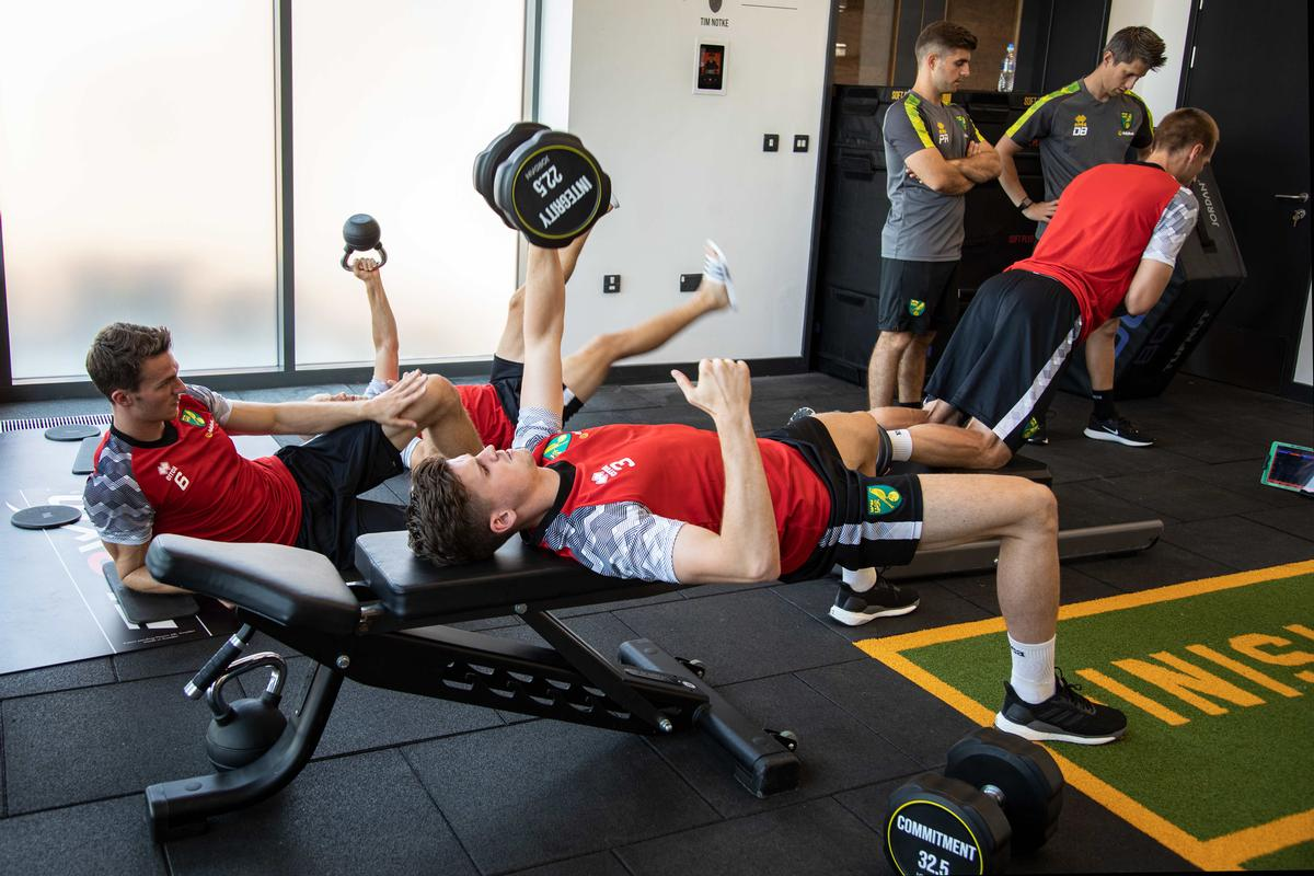Jordan has upgraded the Premier League club's gym at the Colney Training Centre