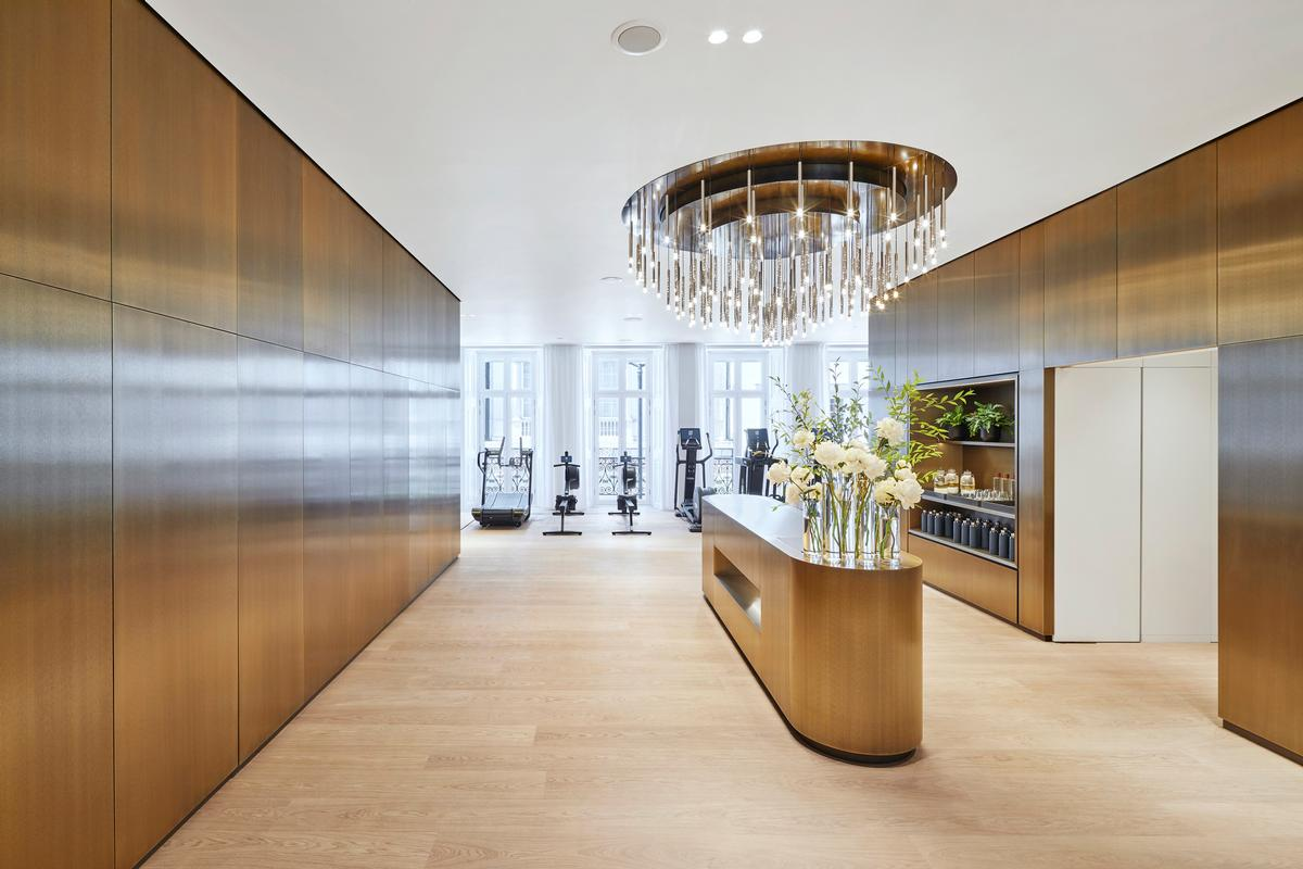 The ultra-luxury health club was designed by Ingenhoven Architects