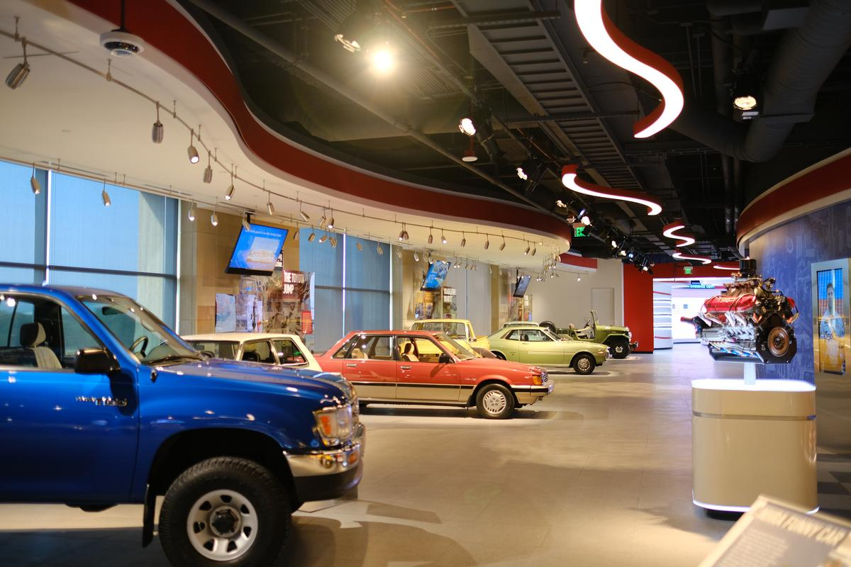 A number of classic historic Toyota cars are on display / JRA