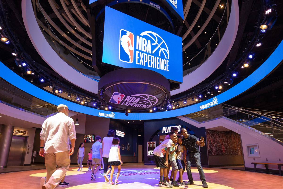 The NBA Experience at Disney Springs features 13 basketball-related activities